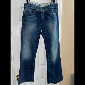 "Men's Guess Boot Cut Jeans Long 34""x33"""